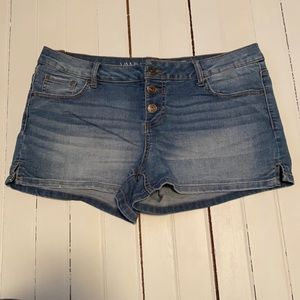 Vanilla Star Low Rise Shortie Short Button Fly 9